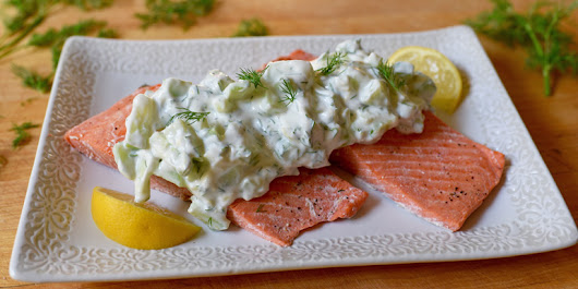 Oven-Poached Salmon with Cucumber Sauce - The Team Beachbody Blog