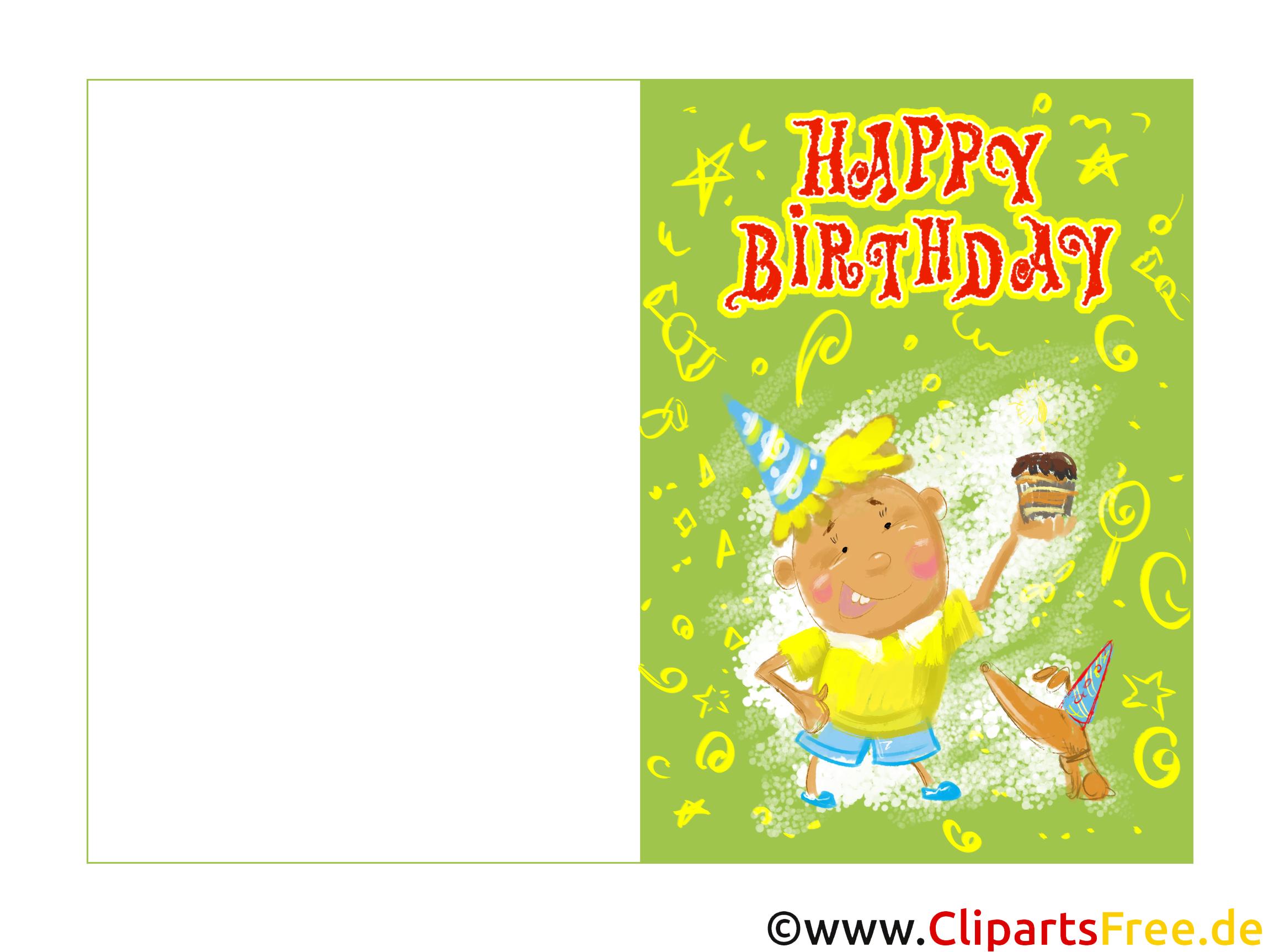 Happy Birthday Karte zum Drucken kostenlos