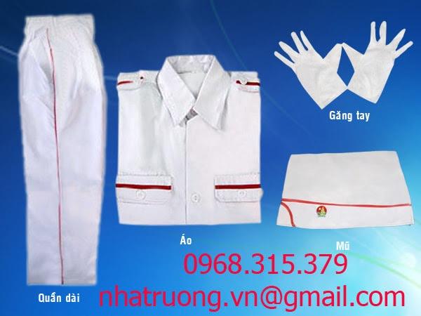 mẫu quần áo nghi thức đội