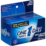 One A Day Men's Health Multivitamin/Multimineral Supplement Tablet 100 ct Box