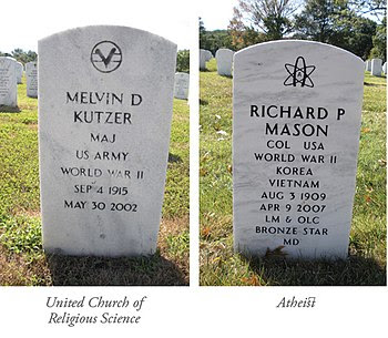 English: 2 gravestones at Arlington National C...