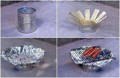 DIY Grill Out Of A Tin Can