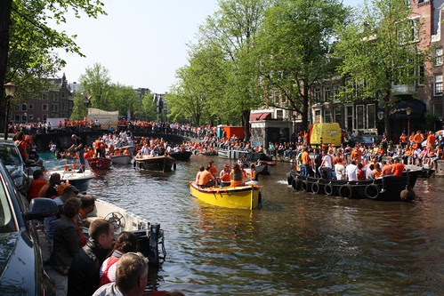 Canal and crowds