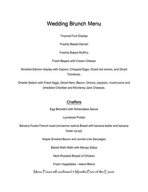 wedding brunch menu   Google Search   Wedding Ideas
