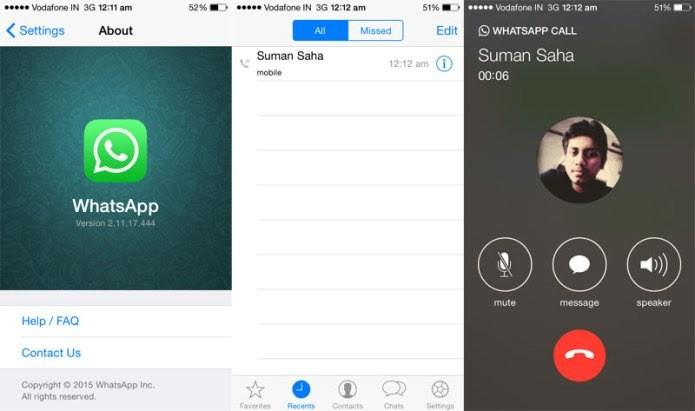 Usuário envia screenshot com o recurso de chamada de voz no iPhone (Foto: Reprodução/BGR Índia)