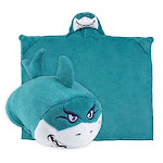 Comfy Critters Stuffed Animal Blanket - Shark - Kids Huggable Pillow And Blanket Perfect For Pretend Play Travel Nap Time.