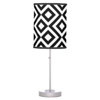 Black and White Meander Lamps