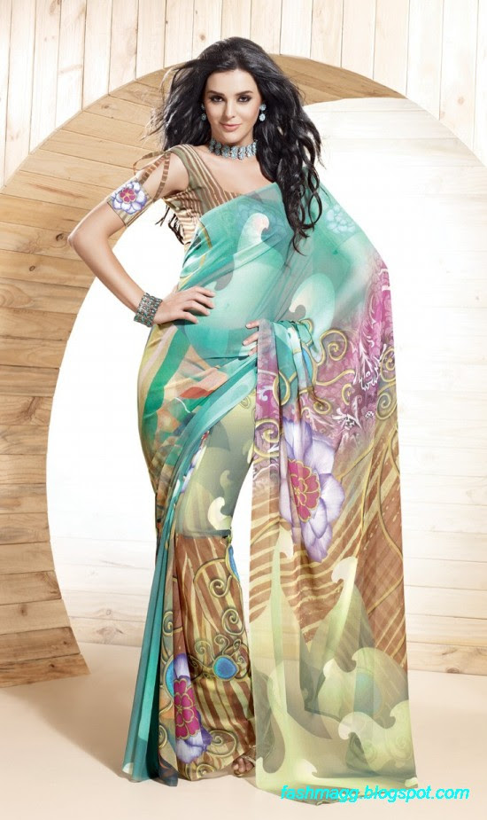 Printed-Saree-Indian-Pakistani-Beautiful-New-Fashionable-Sari-Collection-2013-6