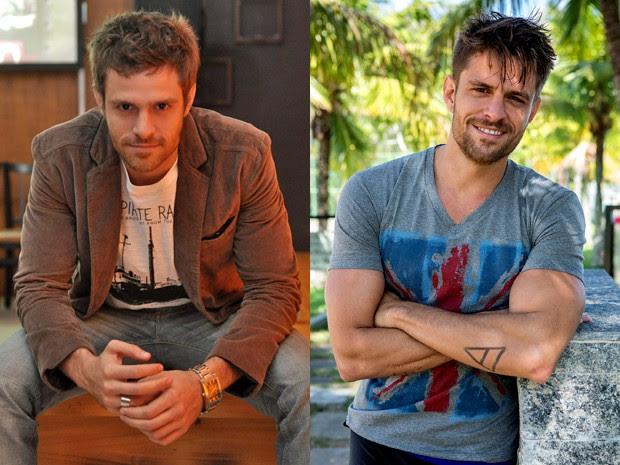 Alejandro Claveaux em Malhação em 2011 como Moisés e agora como César em Alto Astral (Foto: João Cotta/ Grupo Globo e Fábio Rocha/ Gshow)
