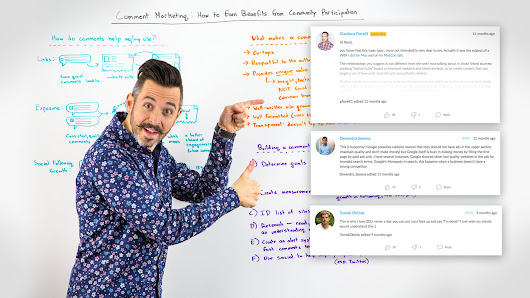 Comment Marketing: How to Earn Benefits from Community Participation - Whiteboard Friday