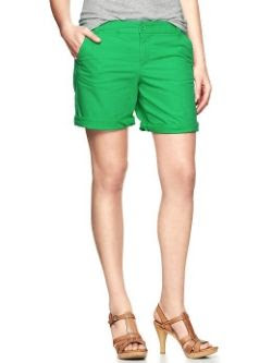 Gap Boyfriend Roll Up Shorts