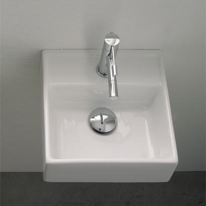 Small Square Wall Mounted Bathroom Sink - modern - bathroom sinks ...