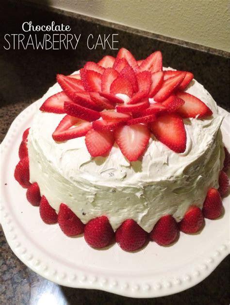Chocolate Strawberry Cake   Strawberry fruit, Chocolate