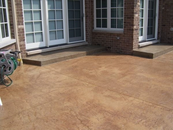 Stamped Concrete Patio - LastiSeal Concrete Stain & Sealer ...