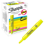 Sharpie Accent Tank Style Highlighter, Chisel Tip, Fluorescent Yellow, 12ct SAN 25025