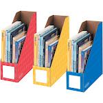 "Fellowes Magazine File Holders Ltr 4""x11""x12-1/4"" 3/PK Ast 3381701"
