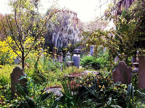 inside the Unitarian Church cemetery, Charleston