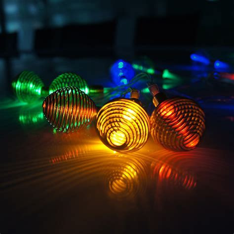 Battery Powered 2M 20LED RGB String Lights, Clear Cable