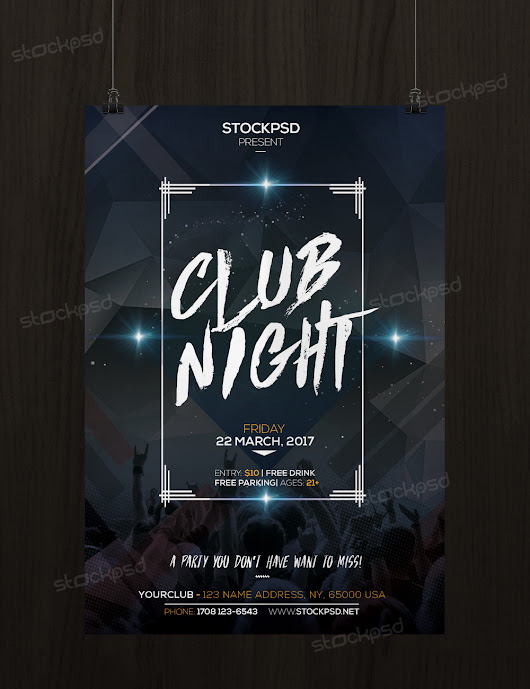 Club Night Party - Free PSD Flyer Template - Stockpsd.net