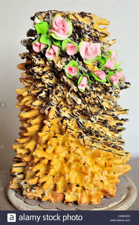 Baumkuchen,traditional lithuanian wedding cake.Traditional