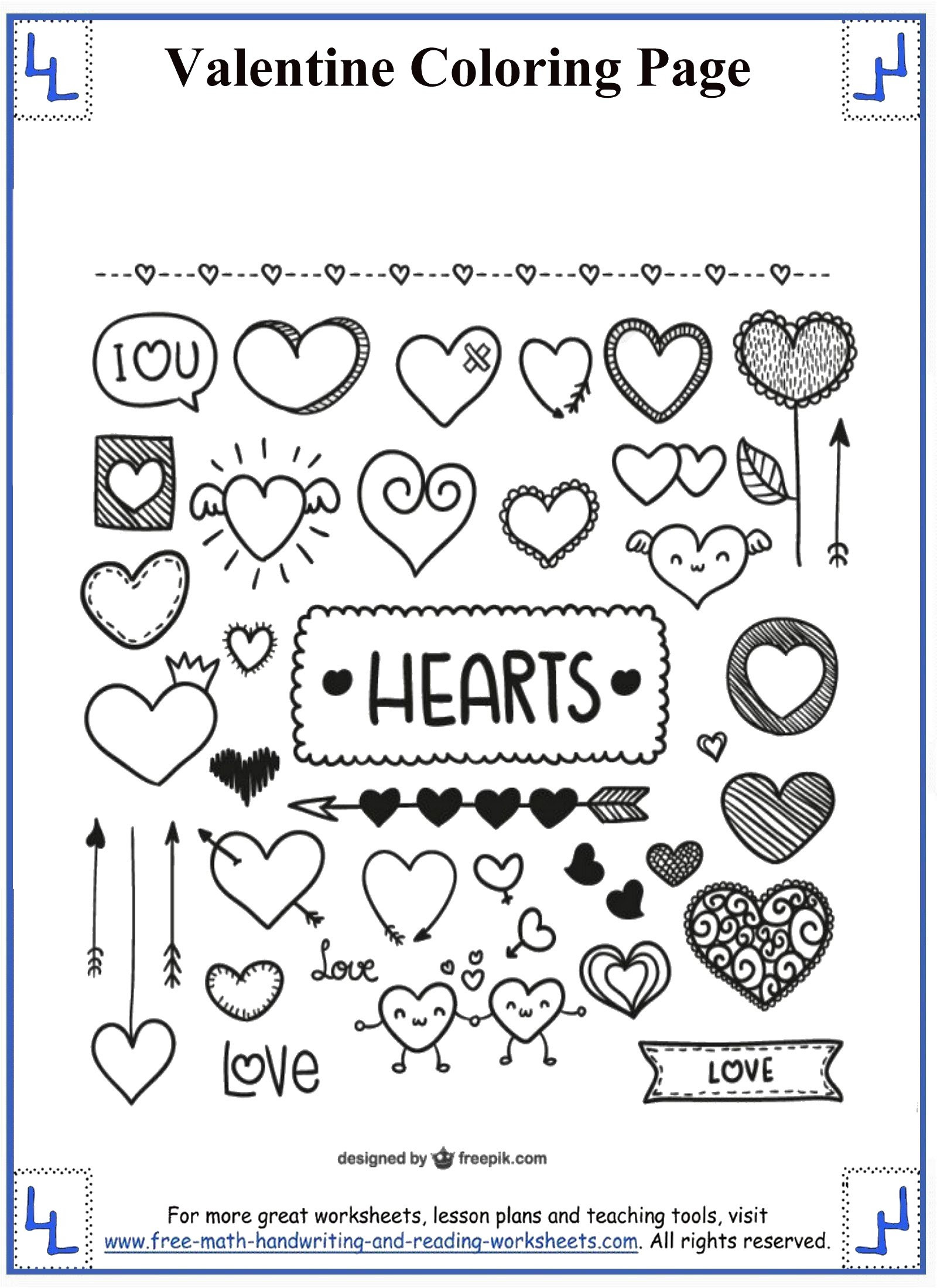 valentine coloring pages 6