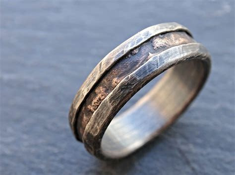 Buy a Hand Made Cool Mens Ring, Alternative Wedding Band