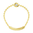 AzureBella Jewelry 14K Yellow Gold Chain and Bar Diamond Ring