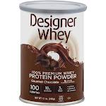 Designer Whey Protein Powder, 100% Premium Whey, Gourmet Chocolate - 12 oz