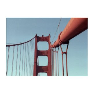 Asymmetrical Golden Gate Bridge Acrylic Wall Art
