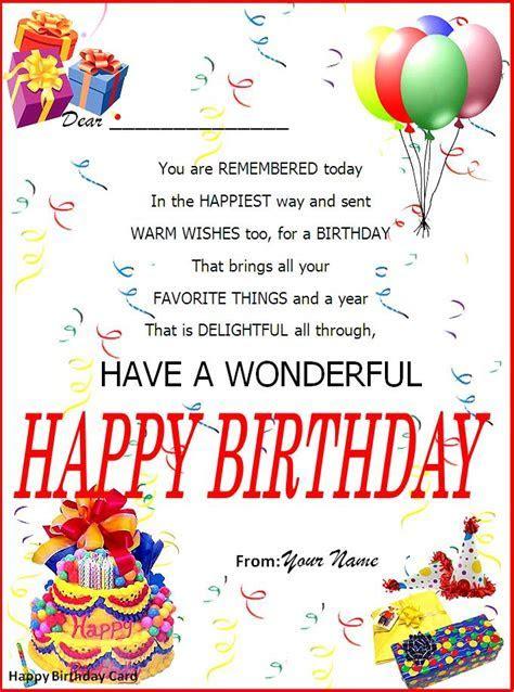 19  Birthday Wish Cards ? Party Ideas