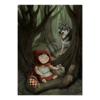 Little Red Riding Hood Children's Art Print print