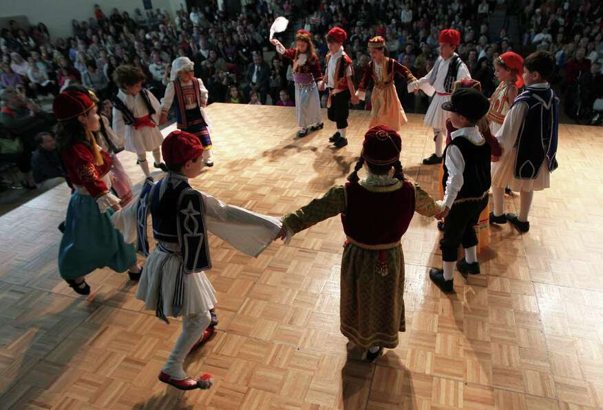 A children's dance program performance during The Original Greek Festival at the Annunciation Orthod