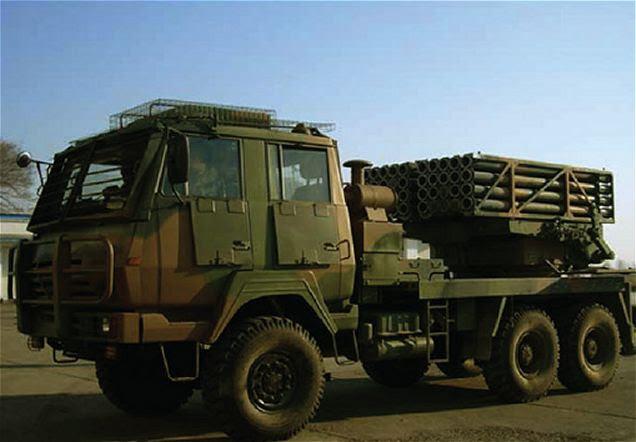 Ejército tailandés ha hacerse cargo de nuevo de fabricación china PR50 122mm MLRS Multiple Launch Rocket System.