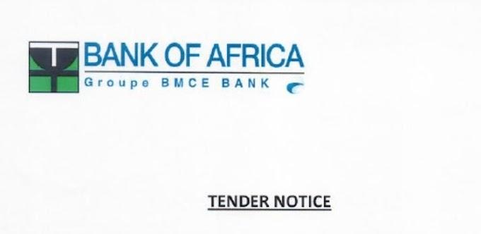Itangazo ryo gupiganira isoko rya Bank of Afr... - #rwanda #RwOT