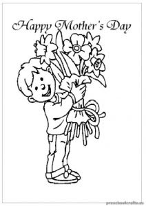 mother's day coloring pages for kids  preschool and kindergarten