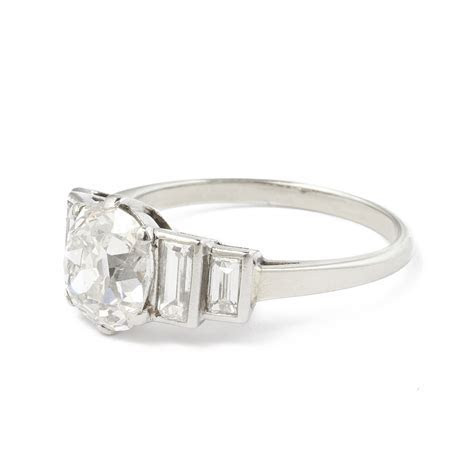 A La Vieille Russie  Antique Diamond Cushion cut