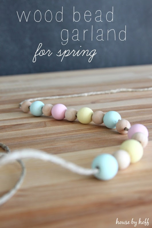 Wood Bead Garland for Spring - House by Hoff