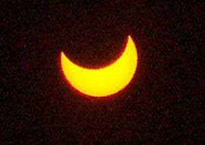 A photo I took of an annular solar eclipse that occurred above Southern California, on May 20, 2012.