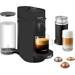 Nespresso - De'Longhi VertuoPlus Coffee Maker and Espresso Machine with Aeroccino Milk Frother - Black Matte