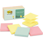 Post-it Pop-up R330-12AP Marseille - Notes - 3 in x 3 in - 1200 sheets (12 x 100) - yellow, pink, green