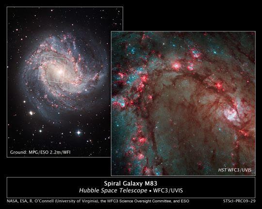 Hubble Image of M83 galaxy