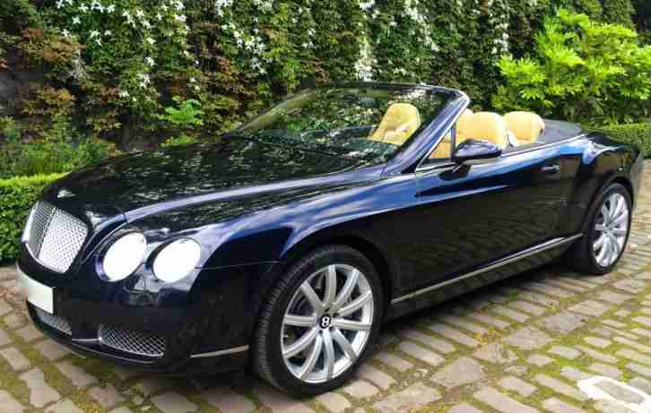 Bentley CONTINENTAL GTC 6.0 CONVERTIBLE 2007 BLUE ,NEW