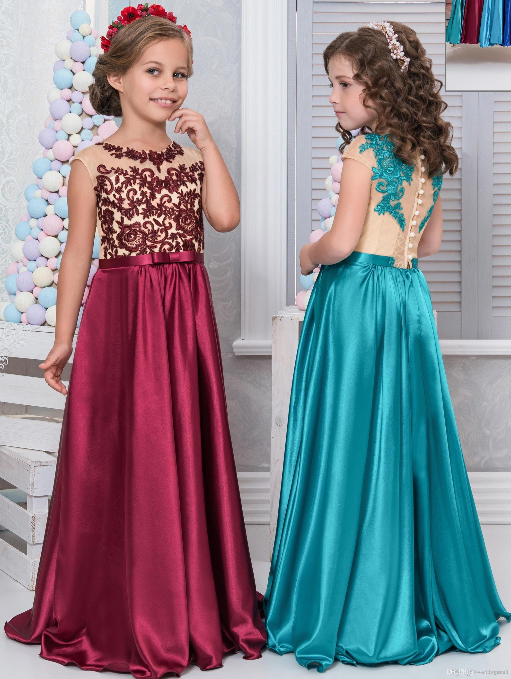 cheap lace arabic 2017 flower girl dresses for weddings a