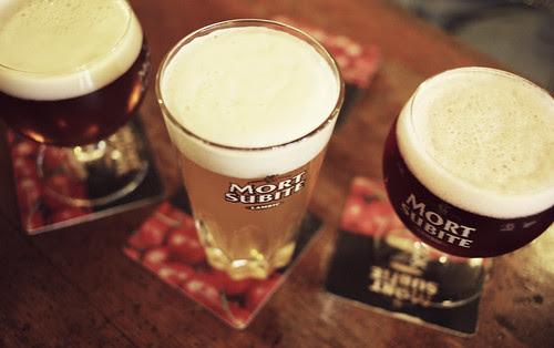 tre nyanser av öl på morte subite