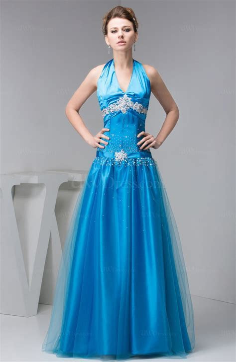 Periwinkle Affordable Prom Dress Long Classic Fall Full