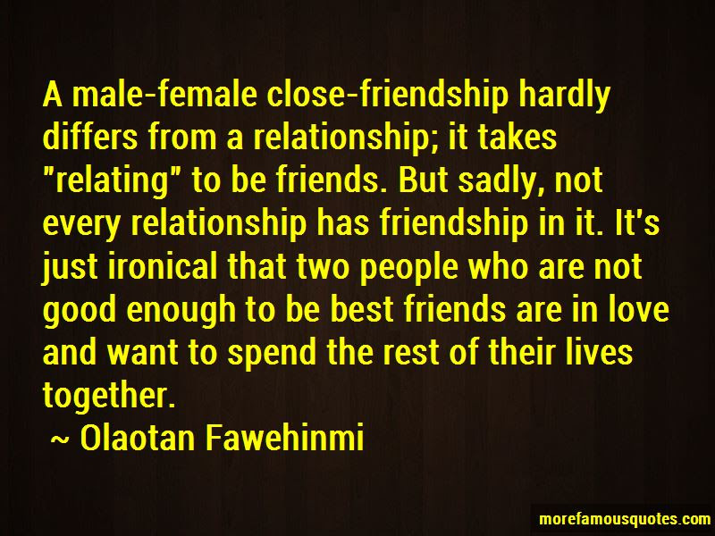Quotes About Male And Female Friendship Top 3 Male And Female