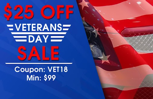 $25 Off Veterans Day Sale  Save $25 this Veterans Day from 11/12/2018 through 11/13/2018 using coupon...