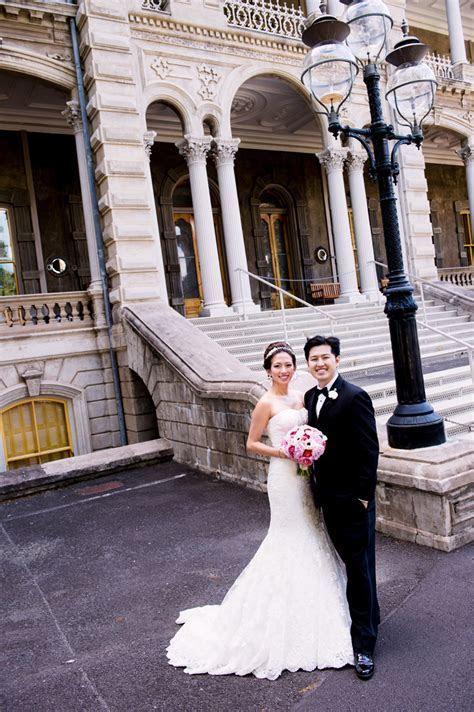 Pauline & Michael: Iolani Palace   Oahu Hawaii Wedding