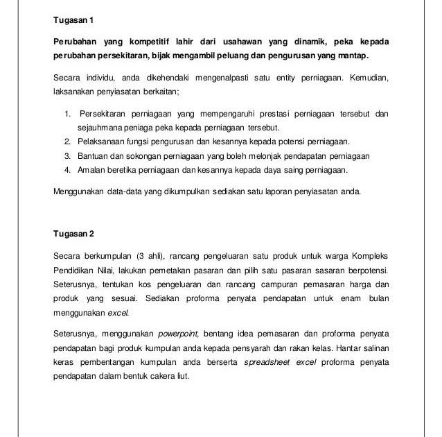 Contoh Soalan Temubual Usahawan Malacca W