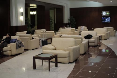 Waiting lounge at the Dubai airport